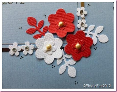 Punched Flower Card wedding