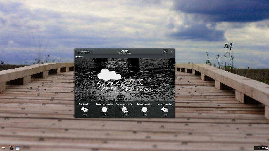 Evolve OS Alpha 1 - Weather
