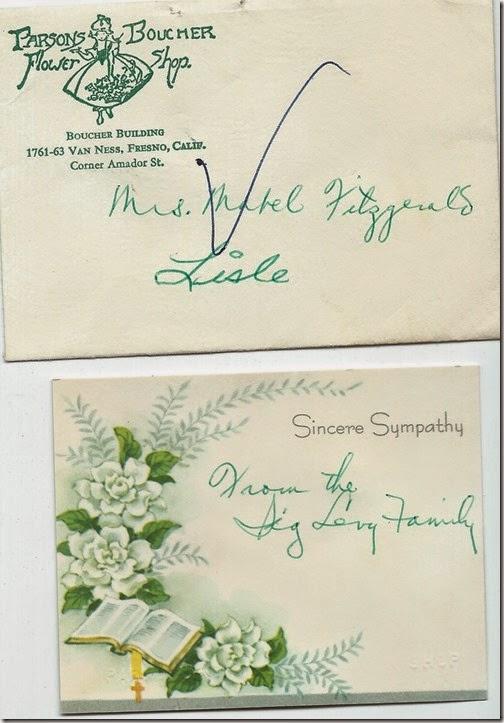 Flower card Sig Levy