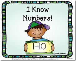 I know Numbers 1-10 cover pic