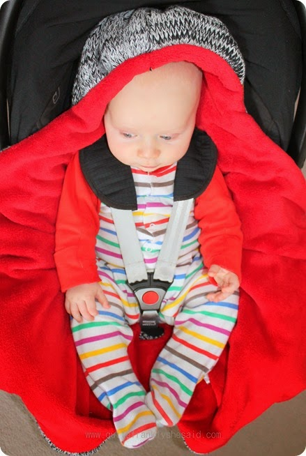 Review Cocoon Babies Car Seat Blanket Quite Frankly She Said