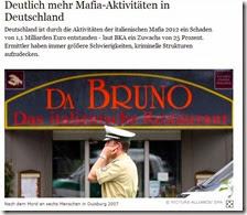 Deutlich mehr Mafia-Aktivitäten in Deutschland