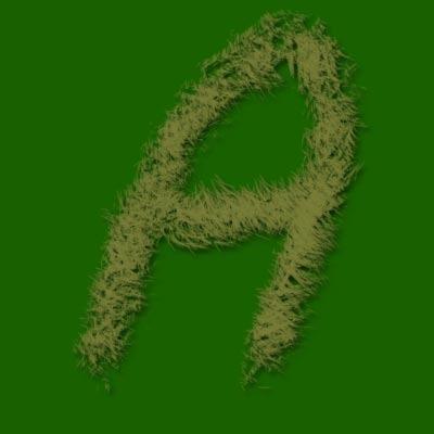 Texto efecto hierba con Photoshop - Aplicar sombra