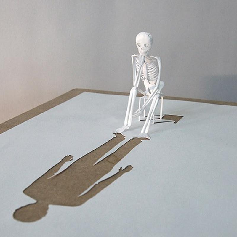 Peter Callesen's Single Sheet Paper Sculpture