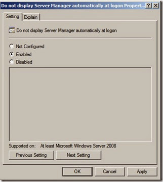 How To Turn Off The Automatic Display Of Server Manager At Logon_GpUpdate (2)