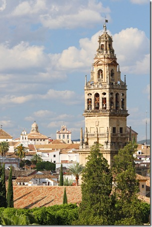 Bell tower of the Mezquita in Cordoba
