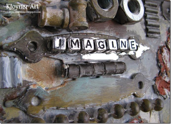 Imagine Mixed Media Art