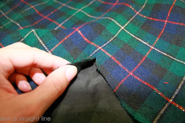 wool plaid skirt refashion sew a straight line-4-2