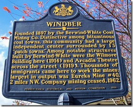Windber marker in the borough of Windber, PA (Click any photo to enlarge)