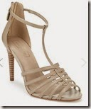 Autograph nude leather caged sandal