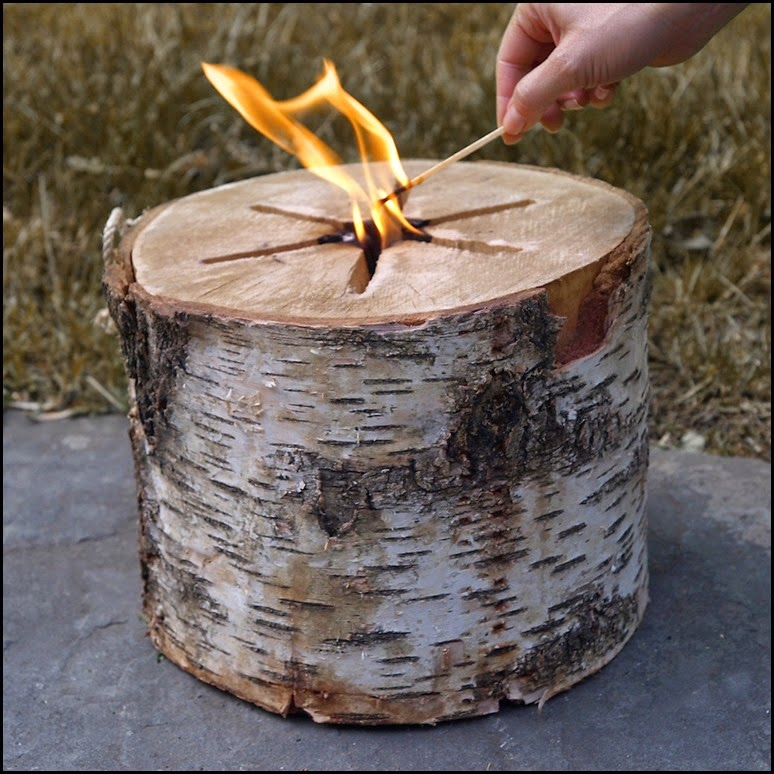 Gifts bonfire log