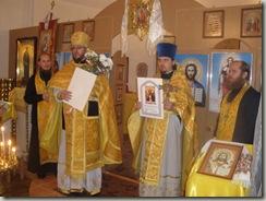 жителі  с. Сапогове  святкують  першу  річницю  освячення місцевого  храму