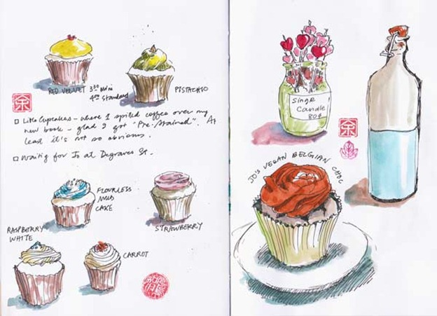 Cupcakes sketches