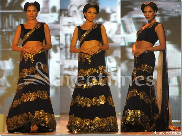 Manish_Malhotra_Black_Lehenga_Style_Saree