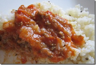 herbed rice with sbarro meat sauce, 240baon