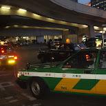 taxi waiting outside of shinjuku station in Chiba, Tokyo, Japan
