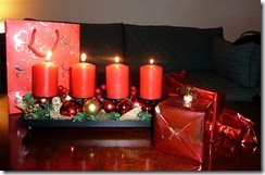 candles and presents