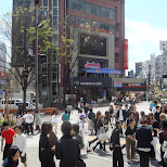 Omotesando crossing in Harajuku, Tokyo, Japan
