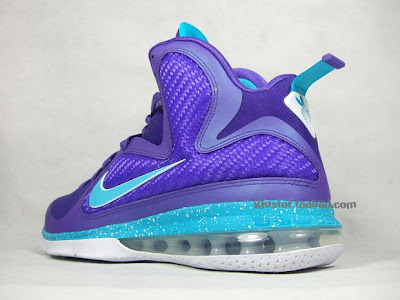 nike lebron 9 gr summit lake hornets 4 09 New Photos of Nike LeBron 9 in Purple/Teal/White aka Hornets