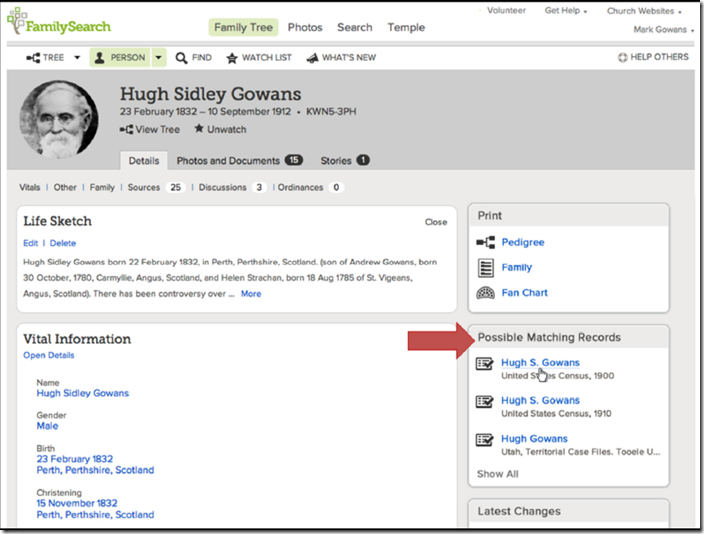 Hints to matching records are coming to FamilySearch Family Tree