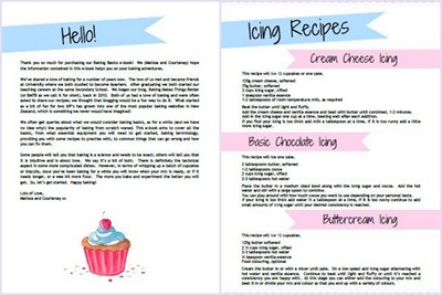 Intro and Icing pages