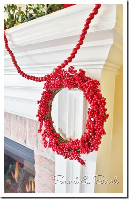 Berry Wreath and Cranberry Garland