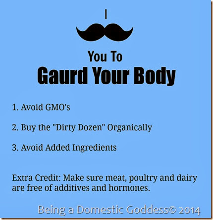 I mustach you to gaurd your body