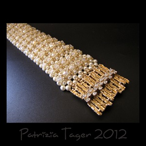 Diamond & Pearls Rib Bracelet 01a copy