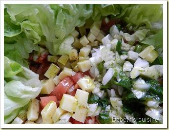 salade à l'huile verte