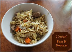 Many Waters Crockpot Beef and Noodles