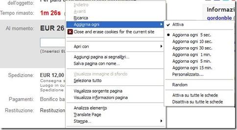 Addon ReloadEvery Firefox per aggiornare pagine internet in automatico