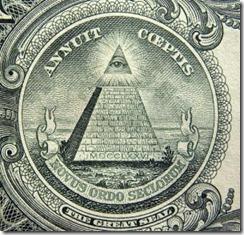 Piramide nota de um dólar