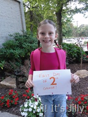 Girl B First Day of 2nd grade