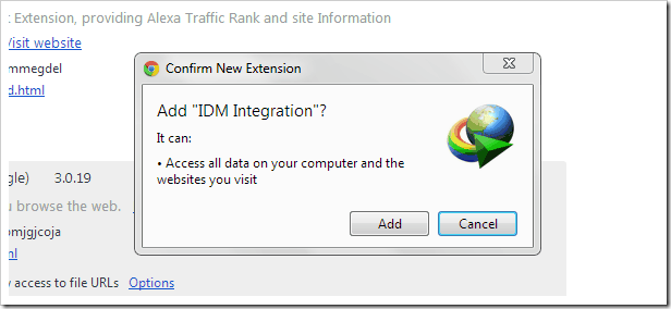 idm google chrome integration fix