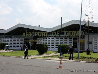 Une vue du batiment de l'aeroport international de Goma. Radio Okapi/ Ph John Bompengo