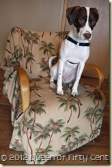 Zoe in Heywood Wakefield chair