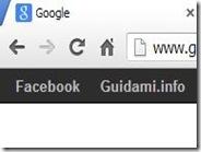 Aggiungere link personalizzati nella barra nera della home di Google