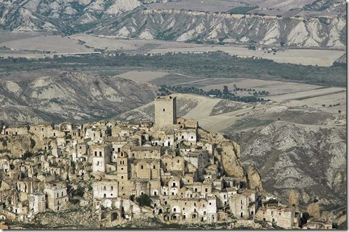 Craco ghost medieval village