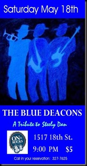 Blue Deacons  - OtR Flyer for 051813