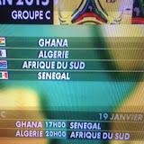 CAN 2015 : L'Algérie dans le groupe du Ghana, de l'Afrique du Sud et du Sénégal