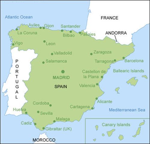 خريطة اسبانيا