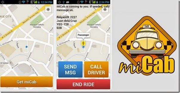 miCab app - get a taxi now