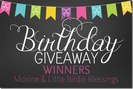 BDAY GIVEAWAY winners 2013