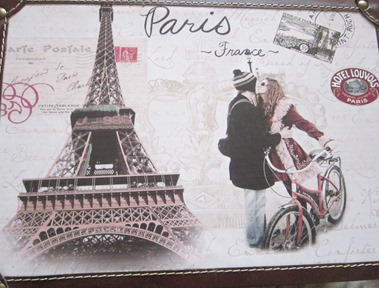 paris suitcase, bitsandtreats