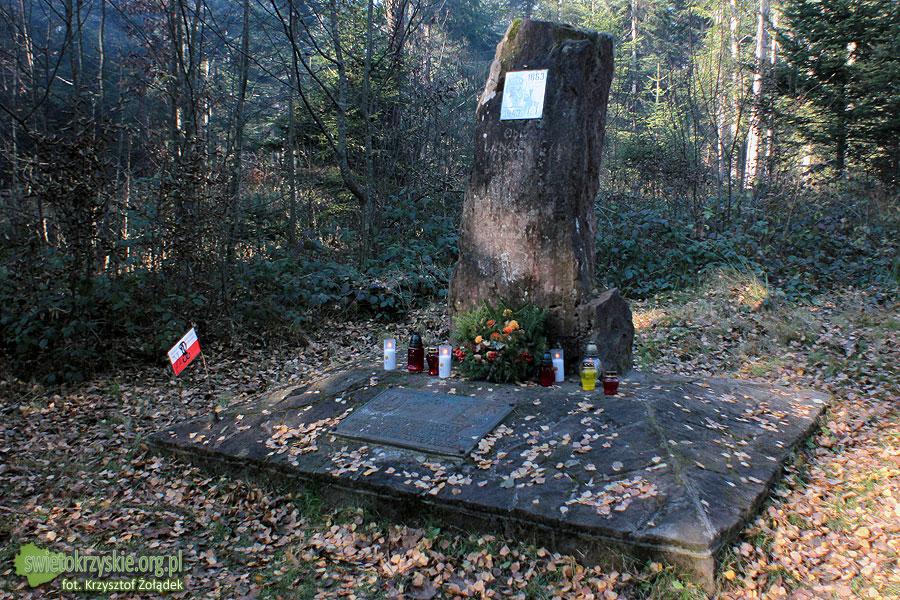 Tablice pamiątkowe na polanie Langiewicza