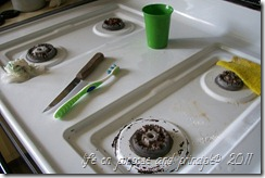 stove top and cleaning tools