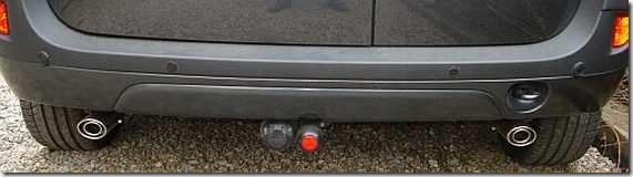 Dubbele uitlaat Dacia Logan MCV 05