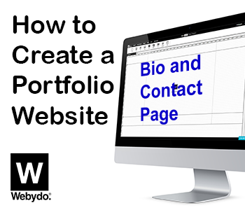 bio and contact page