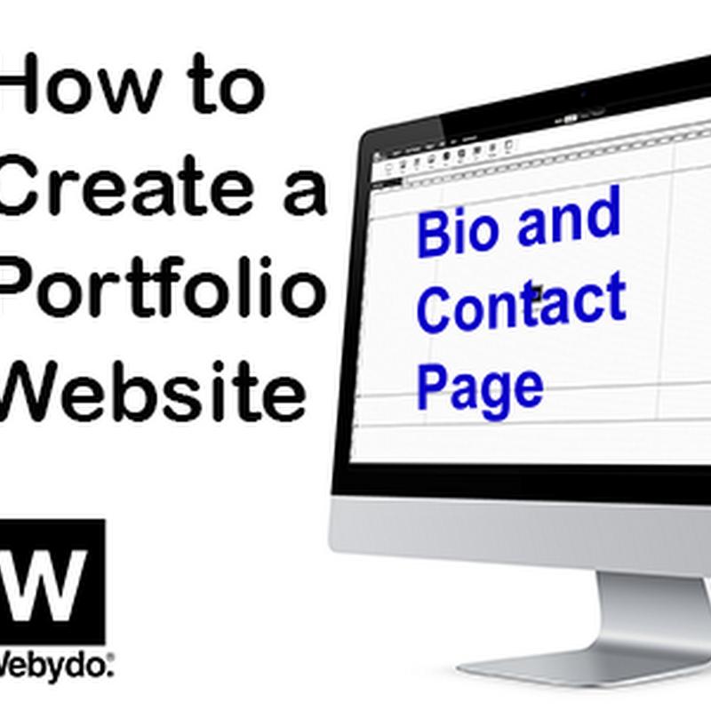 Creating a Portfolio Website - Bio and Contact Page