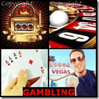 GAMBLING- 4 Pics 1 Word Answers 3 Letters